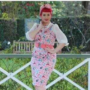 NEW Rockabilly Pinup Diner Dress no belt size L